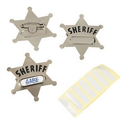 Metal Sheriff's Badges (12/pkg)