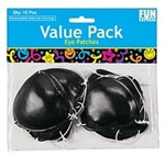Plastic Pirate Eye Patches (12/pkg)
