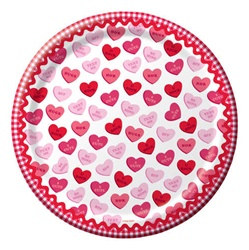 Valentine Sweet Greetings Dessert Plates (8/pkg)