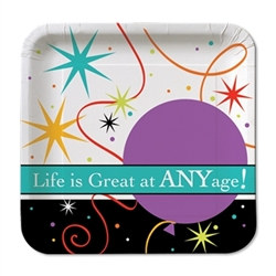 Life Is Great Dessert Plates (8/pkg)