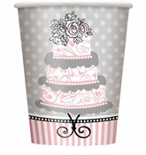 Elegant Wedding Hot/Cold Cups (8/pkg)