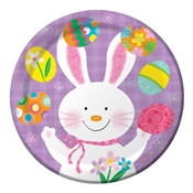 Bunny Juggle Lunch Plates (8/pkg)