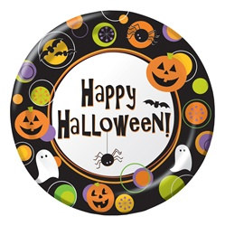 Halloween Dots Lunch Plates (25/pkg)