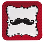 Mustache Madness Lunch Plates (8/pkg)