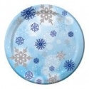 Shimmering Snowflakes Lunch Plates (8/pkg)
