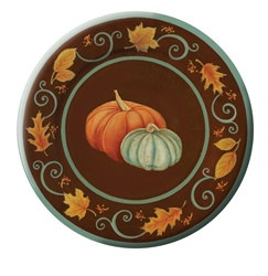 Autumn Scroll Dinner Plates (8/pkg)