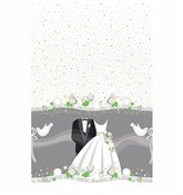 Silver Wedding Tablecover