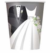 Silver Wedding Hot/Cold Cups (8/pkg)
