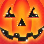 Halloween Pumpkin Beverage Napkins (16/pkg)