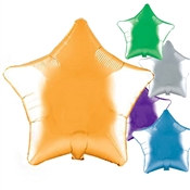 Star Shaped Metallic Mylar Balloons