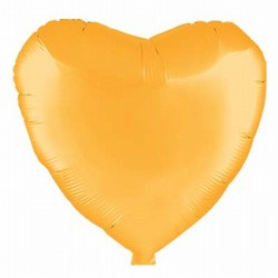 Gold Metallic Mylar Heart Balloon