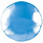 Royal Blue Metallic Mylar Round Balloon