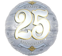 25th Anniversary Mylar Balloon