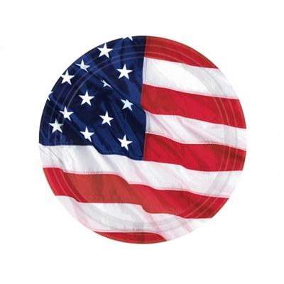 American Flag Plates