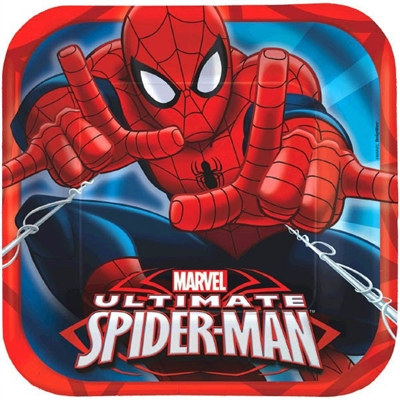 Spider-Man Square Lunch Plates (8/pkg)