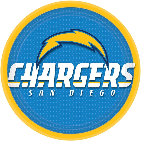 San Diego Chargers Blog: San Diego Chargers Lunch Plates (8/pkg)