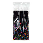 Happy New Year Champagne Bubbles Tablecover, 54 x 102, (1/pkg)