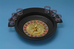 Roulette Game with Shot Glasses