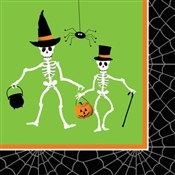 Dancing Skeleton Beverage Napkins (18/pkg)