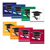 School Colors Graduation Beverage Napkins