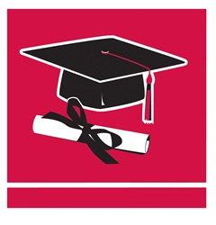 Red Congrats Grad Beverage Napkins