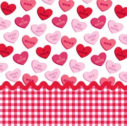 Valentine Sweet Greetings Beverage Napkins (18/pkg)