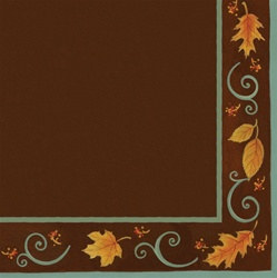 Autumn Scroll Beverage Napkins (16/pkg)