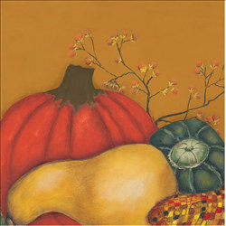 Harvest Gourds Beverage Napkins, 9 7/8 Inches, 16/pkg