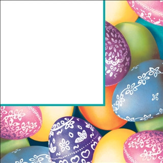 Decorative Eggs Lunch Napkins (18/pkg)