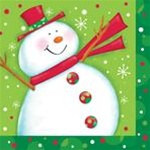 Polka Dot Christmas Luncheon Napkins (16/pkg)