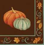 Autumn Scroll Lunch Napkins (16/pkg)