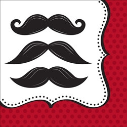 Mustache Madness Lunch Napkins (16/pkg)