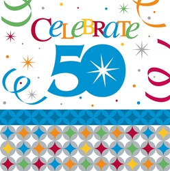 Birthday Celebration 50th Lunch Napkins (16/pkg)