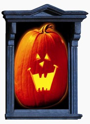 "Pumpkin Window Magic, Size: 33 1/2"" x 65"""