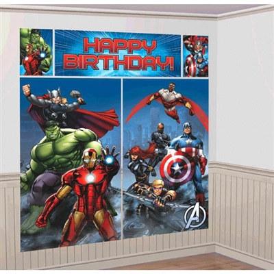 Avengers Scene Setter Plastic Wall Dec Kit