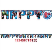 Avengers Happy Birthday Banner