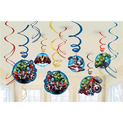 Avengers Value Pack Foil Swirl Decorations (6/pkg)