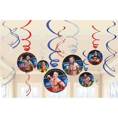 WWE Value Pack Foil Swirl Decorations (6/pkg)