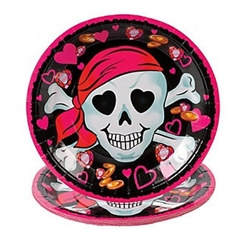 Pink Pirate Dinner Plates