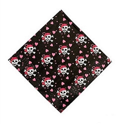 Pink Pirate Lunch Napkins