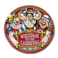 Big top circus dinner plates partycheap - Cheap circus decorations ...
