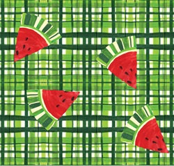 Watermelon Treat Plastic Tablecover