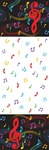 Multi-Color Music Note Tablecover