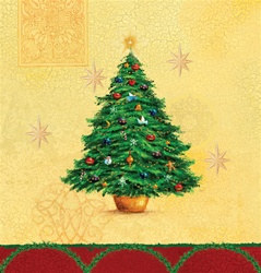 Holiday Splendor Plastic Tablecover (1/pkg)