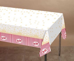 Popcorn Party Plastic Tablecover