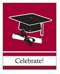 Burgundy Congrats Grad Invitations