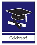Purple Congrats Grad Invitations