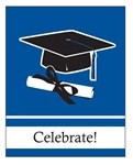 Blue Congrats Grad Invitations