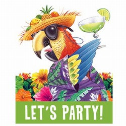 Parrot party invitations