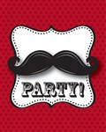 Mustache Madness Invitations (8/pkg)